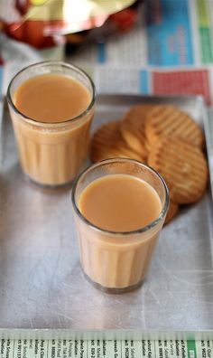 Cutting Chai Recipe or Mumbai Masala Chai Recipe / 2 cups of water ½ cup of milk 2 t/s strong chai / tea powder (I use society brand) 2-3 cardamom freshly pounded or crushed (elaichi) 1 inch ginger grated or crushed (adrak) 2 tbsp sugar or as required