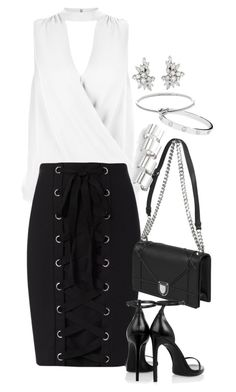 """Untitled #1028"" by manoella-f on Polyvore featuring New Look, Exclusive for Intermix, Yves Saint Laurent, Maison Margiela, Cartier and Michael Kors"