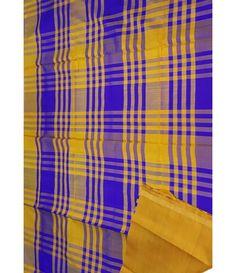 Blue Handloom Upadda Silk Saree