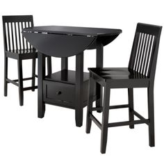 Threshold™ 3 Piece Storage Pub Set - Ebony