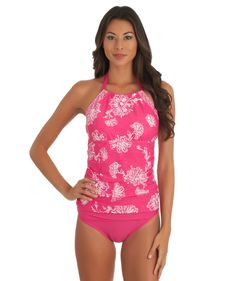 Sperry Top-Sider Womens High Neck Keyhole Front One Piece Swimsuit