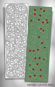 8 Coloring Bookmarks with Abstract Patterns Coloring Doodles #abstract #design #bookmark