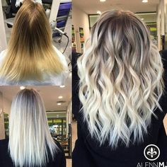 Icy Blonde Forget about lowlights for fall and winter! It's all about the Babylights and balayage fo Icy Blonde, Brown Blonde Hair, Blonde Ambre Hair, Blonde Bayalage Hair, Blonde Ombre Short Hair, Balayage Hair Blonde Medium, Blonde Honey, Honey Balayage, Blonde Roots
