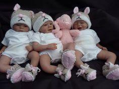 Adorable Triplets reborn babies Preemie for Christmas from Marita Winters kits | eBay