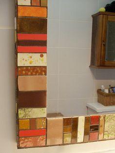 Espejo hecho por mi el 2013, baño Pili