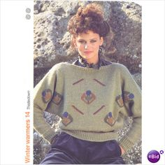 Ladies sweater pattern for Pingouin yarn knitting patterns number 14 on eBid United Kingdom