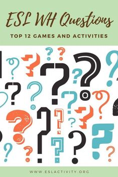 Find out the top ESL games, activities, lesson plans and resources for teaching English learners about WH questions. Help students with how to ask and answers who, what, when, why, where and how questions easily.   #who #what #when #why #where #how #wh #question #questions #conversation #englishconversation #speaking #englishspeaking #eslspeaking #esl #tefl #efl #elt #teaching #teachingenglish #englishteacher Wh Questions, This Or That Questions, Teach English In Japan, Better English, Teaching English Grammar, Esl Lesson Plans, Esl Lessons, Speaking Games, Activities