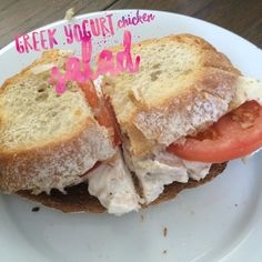 A little tasty #health trick I learned from my hammer and chisel meal plan-- swap mayo for Greek yogurt to bump up the protein and ditch the fat! Voilà, you have healthy chicken salad!   Delicious chicken salad sandwich made with leftover rotisserie chicken, fresh mozzarella, tomato, pepper & balsamic vinegar  More ideas at fit2glow.com ✨