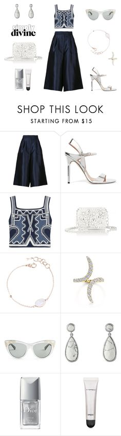 """""""chic culottes"""" by supabebek ❤ liked on Polyvore featuring SUNO New York, Halston Heritage, Peter Pilotto, Nancy Gonzalez, Auren, Gucci, Karen Kane, Christian Dior, MAC Cosmetics and TrickyTrend"""
