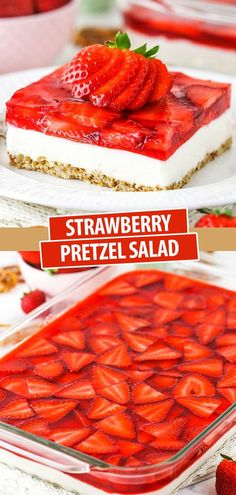 Sweet, salty and creamy, this Strawberry Pretzel Salad is an easy 3-layer dessert that's perfect for summer! This old-fashioned favorite is a classic for a reason!
