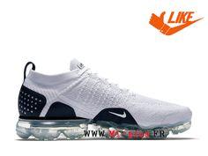 58e94dcfc71d6 Nike Air Vapormax Flyknit 2.0 Chaussure De Running Pas Cher Pour Homme  Blanc noir 942842-