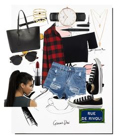 """Untitled #52"" by clodfever on Polyvore featuring Garance Doré, American Apparel, Madewell, Converse, Yves Saint Laurent, Christian Dior, Forever 21, Daniel Wellington, Accessorize and Marc Jacobs"