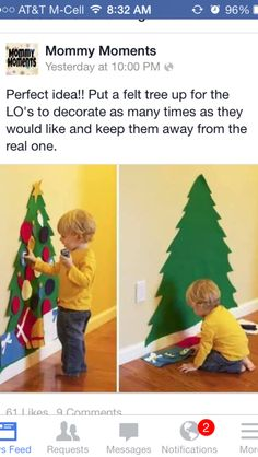 B can decorate her own tree!!