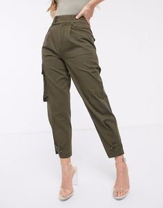 Browse online for the newest ASOS DESIGN military pants with pocket styles. Shop easier with ASOS' multiple payments and return options (Ts&Cs apply). Herringbone Fabric, Military Pants, Pants For Women, Clothes For Women, Suit Vest, Petite Tops, Military Fashion, Military Chic, Pull On Pants