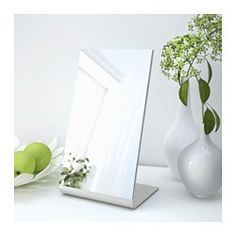 IKEA - TYSNES, Table mirror,  , , Suitable for use in most rooms, and tested and approved for bathroom use.
