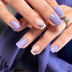 Pretty nails shine on your fingertips to give you a cool summer Nail Manicure, Gel Nails, Acrylic Nails, Nail Polish, Purple Nail Designs, Nail Art Designs, Black Coffin Nails, Nagellack Trends, Pretty Nail Art
