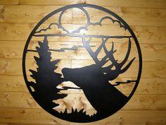 Metal wall art Buck