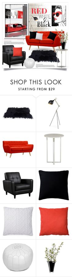 """""""Red, White and Black Decor"""" by alexandrazeres ❤ liked on Polyvore featuring interior, interiors, interior design, home, home decor, interior decorating, Dot & Bo, Fogarty, Ralph Lauren and Heal's"""