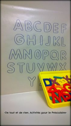 Sticky wall ABC puzzle