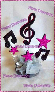 Más Music Theme Birthday, Music Themed Parties, Music Party, 50th Birthday Party, Rockstar Party, Rockstar Birthday, Music Centerpieces, Party Centerpieces, Disco Theme
