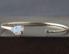 Alexis Russell <<>> Raw Opal + Diamond Cuff Bracelet