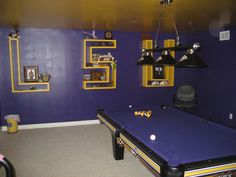#lsu #gameroom My boyfriend will probably try to pull this one day when we are married and have a house!