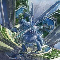 Yorktown Station Concept Art from Star Trek: Beyond [960 x 960]