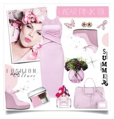 """""""I Wear Pink for _______."""" by stranjakivana ❤ liked on Polyvore featuring Bling Jewelry, Cushnie Et Ochs, LSA International, Christian Dior, Stephen Webster, Hogan, Balenciaga, Chanel, Marc Jacobs and IWearPinkFor"""