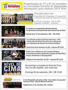 Agenda Cultural do ALTO TIETÊ: Programação na Associação Casarão da Mariquinha, d...