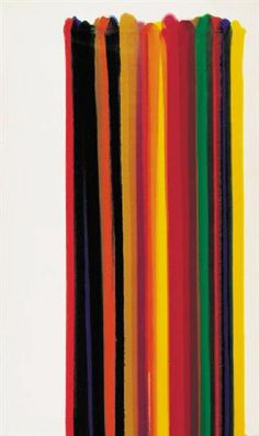 Third Element - Morris Louis Completion Date: 1961 Style: Color Field Painting Period: Mature Works Series: Stripe Genre: abstract Technique: acrylic Material: canvas Dimensions: 207.5 x 129.5 cm