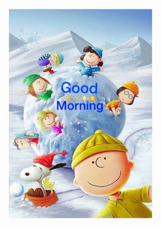 Good Morning Gif snowman