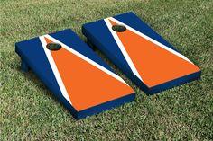 Orange & Blue Triangle Cornhole Boards Game Set (Matching Version 2)