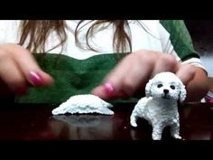 Check out my other animal videos on my channel In this video I am going to show you how to make a fondant westie dog cake topper. I am using fondant mixed wi. Polymer Clay Cat, Polymer Clay Sculptures, Polymer Clay Miniatures, Polymer Clay Charms, Dog Cake Topper, Cake Topper Tutorial, Poodles, Bulldog Cake, Dog Cat