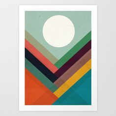 New art for foyer?   Rows of valleys Art Print by Budi Satria Kwan - $19.97