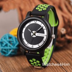 BOBO BIRD Luxury Bamboo Watch Men and Women Silicone Color Strap Writwatches Ideal Gifts Items Relogio Masculino Cheap Watches, Stylish Watches, Women's Watches, Wrist Watches, Best Gifts For Men, Great Gifts, Best Looking Watches, Wooden Watches For Men, Watch Gift Box