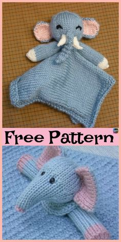8 Adorable Knit Animal Lovey Free Patterns Source by Knitting Blogs, Loom Knitting, Free Knitting, Knitting Projects, Knitting Ideas, Knitted Owl, Knitted Animals, Animal Knitting Patterns, Crochet Blanket Patterns