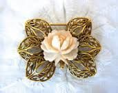 brooch with rose
