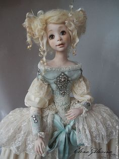"""Купить Кукла """" Марципан"""" - мятный, кукла, авторская кукла, коллекционная кукла"""