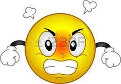 Illustration eines Smiley Rauchende in Anger photo