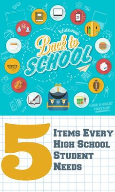 Back to School Supplies for your High School Student! Supplies for high school look much different than the elementary years!