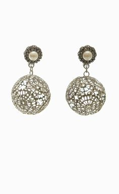 Erickson Beamon Silver Earrings: Love it