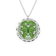 Lime Green Butterfly Ribbon Necklace #nonhodgkinslymphoma #lymphomaawareness #nonhodgkinslymphomaawareness