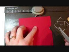 Envelope Punch Board Santa Gift Card Holder