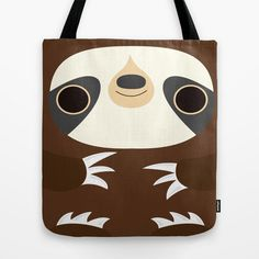 Sloth tote bag bag shoulder bag by telahmarie on Etsy