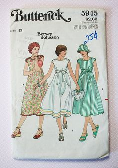 vintage-sewing-pattern-1970s-betsey johnson