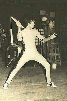 Bruce Lee---THE GAME OF DEATH---Bruce  had only filmed two fight scenes and NONE of his dialog scenes. They were done by very poor Stand-ins shot in the shadows.