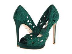 Badgley Mischka Dacey in Emerald Green #heels #shoelove #zappos