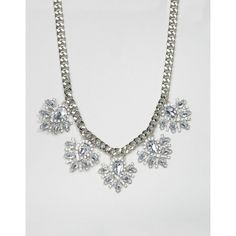 Find the best selection of True Decadence Rhinestone Flower Necklace. Shop today with free delivery and returns (Ts&Cs apply) with ASOS! Chunky Chain Necklaces, Jewelry Necklaces, Chain Jewelry, Jewellery, Floral Necklace, Rhinestone Jewelry, Costume Jewelry, Floral Design, Asos