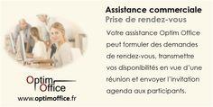 Connaître les prestations délivrées par Optim Office en matière de prises de rendez-vous commerciaux.
