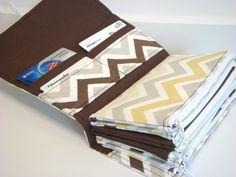 Cash Budget Envelope Wallet  / Dave Ramsey System - River Rock Chevron Zig Zag